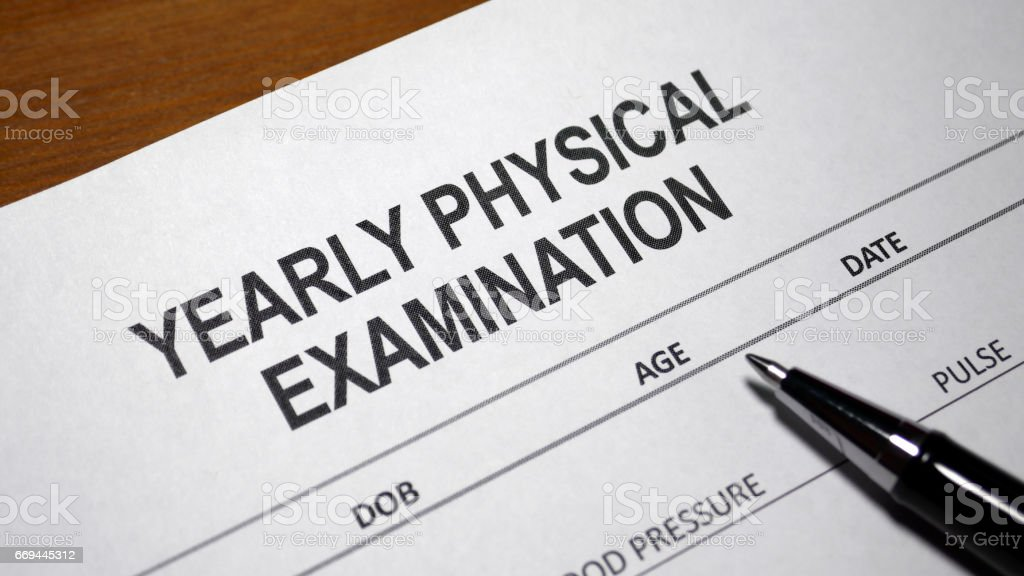 Yearly Physical Examination stock photo
