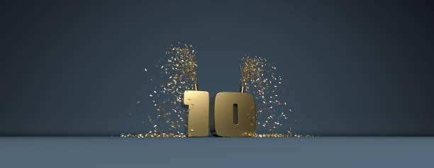 10 years anniversary illustration stock photo