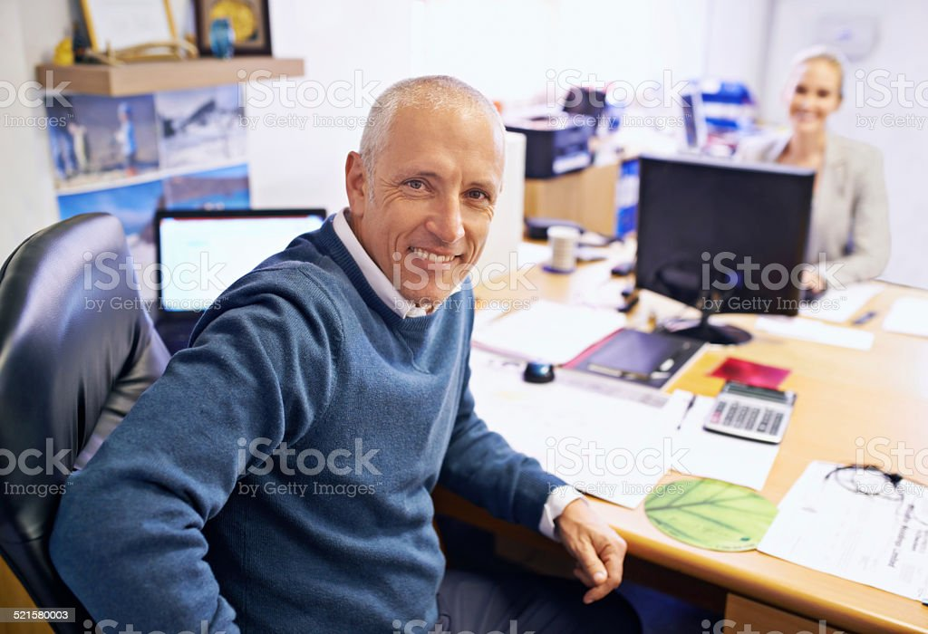 Years of industry experience stock photo