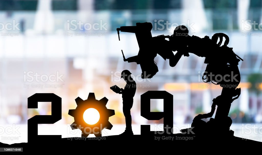 2019 Years Of Robot Assistant Technology Industry 40 Artificial