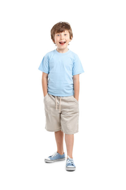 8 years old boy stock photo