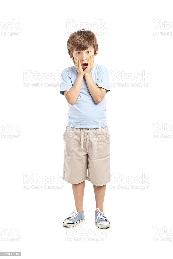8 years old boy stock photo