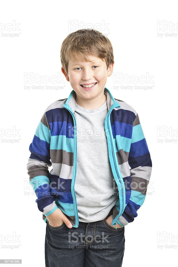 9 years old boy royalty-free stock photo