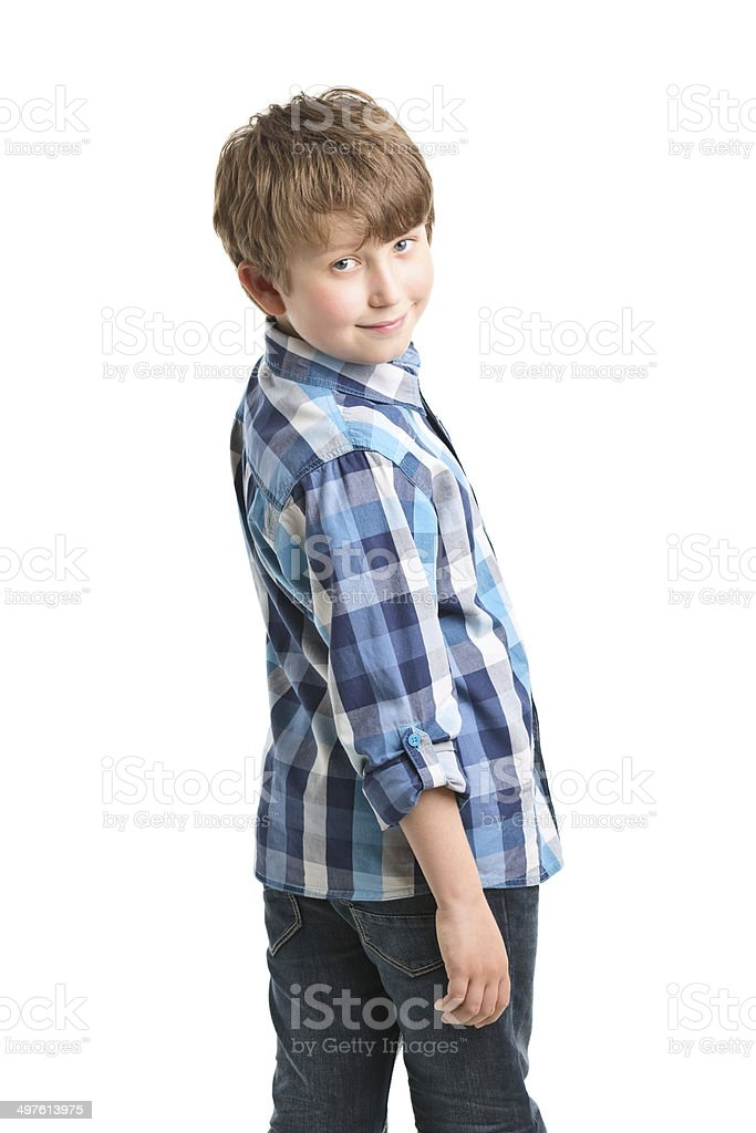 10 years old boy stock photo