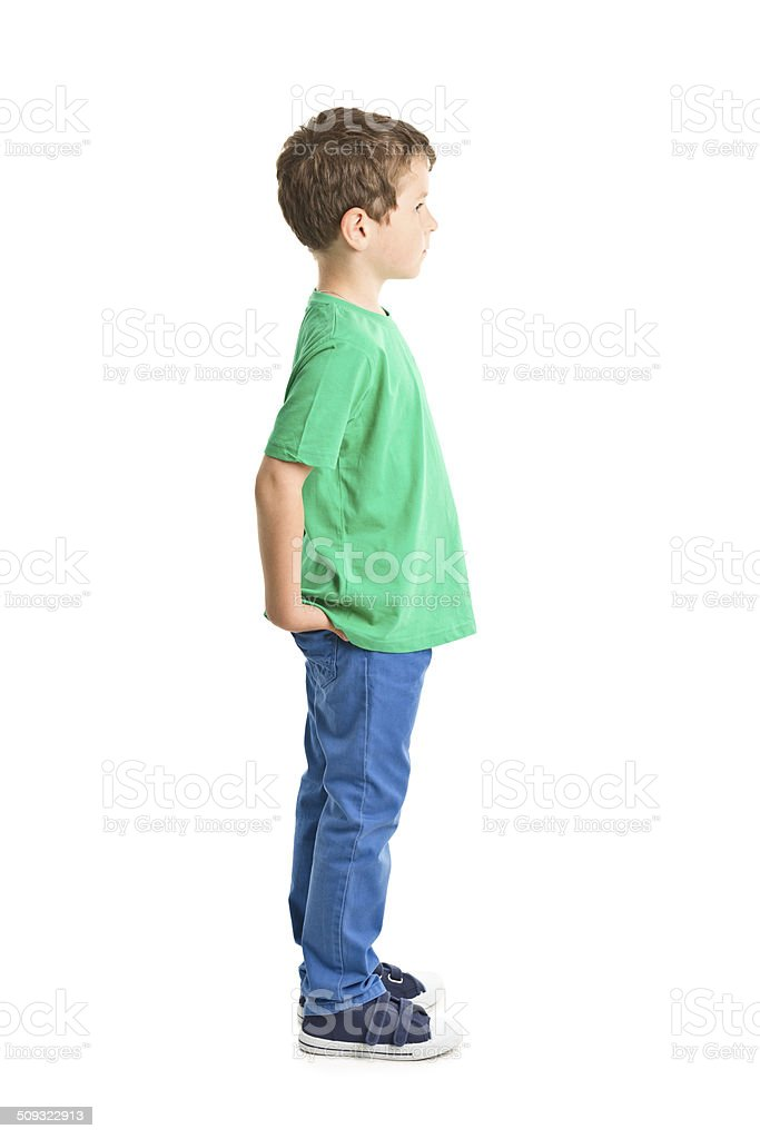7 years old boy stock photo