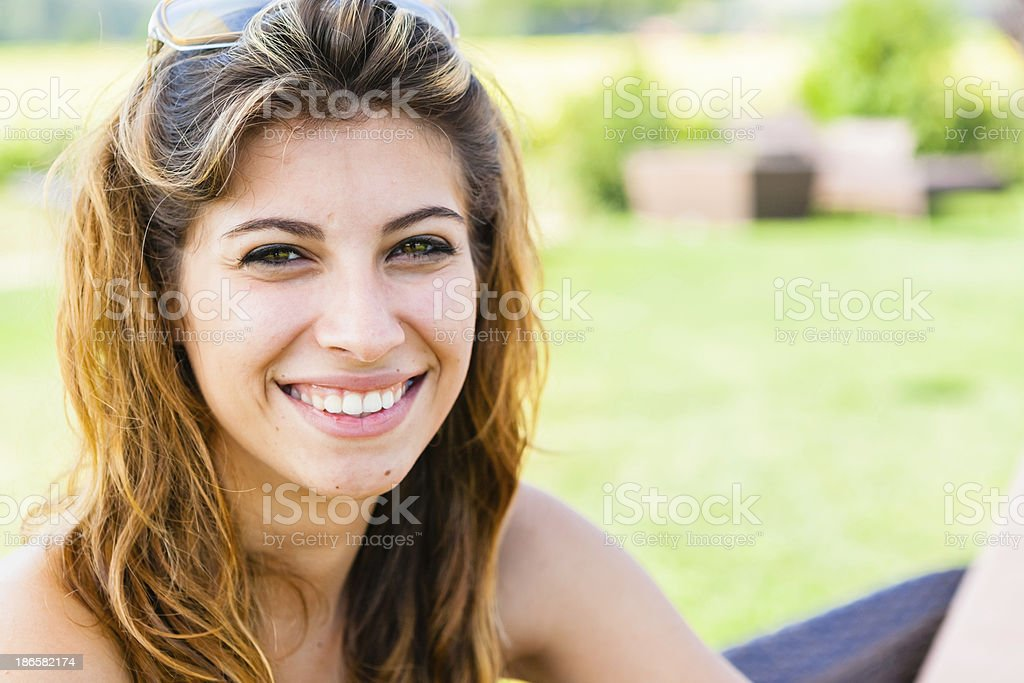 18 Years Old Girl Smiling At Camera royalty-free stock photo