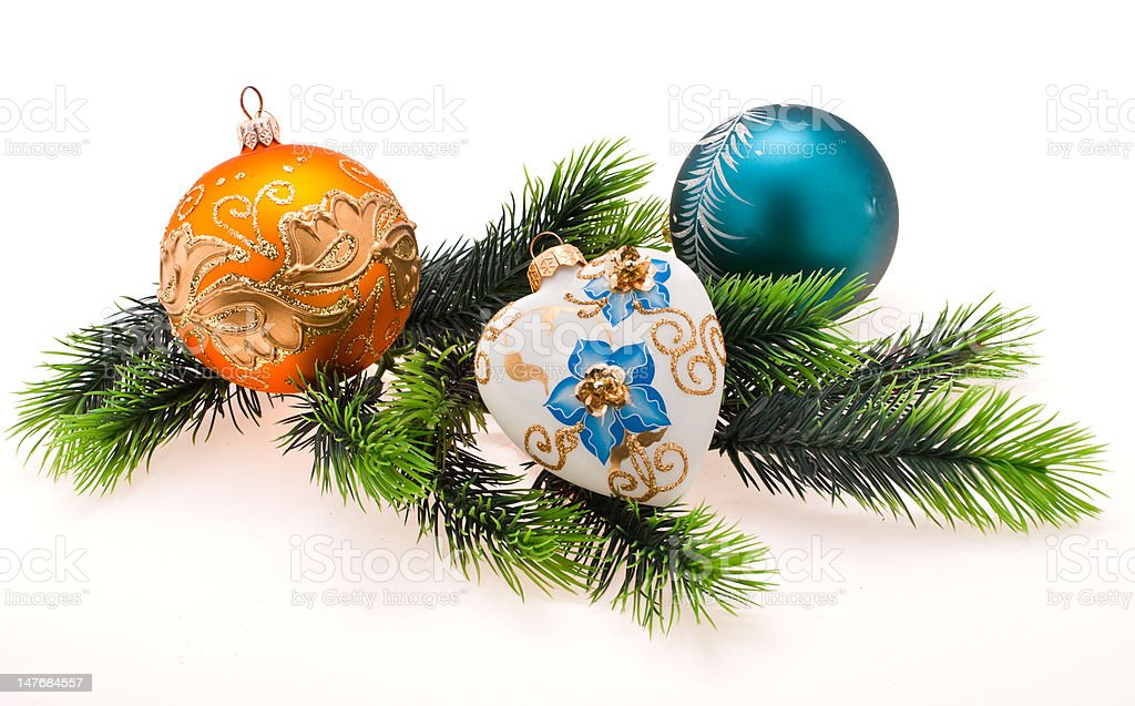 Year's tree ornaments royalty-free stock photo