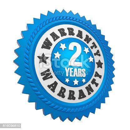 istock 2 Years Warranty Badge Isolated 816096810
