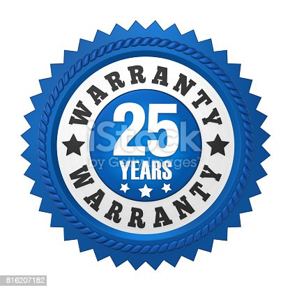 istock 25 Years Warranty Badge Isolated 816207182