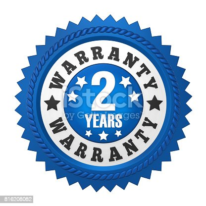 istock 2 Years Warranty Badge Isolated 816208082