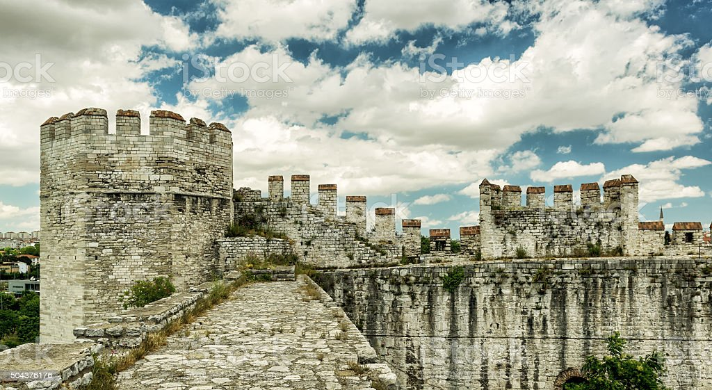 Yedikule Fortress in Istanbul stock photo