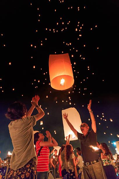Yee Peng Festival at Chiangmai province, Thailand – Foto