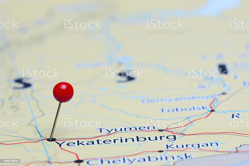 Yekaterinburg Pinned On A Map Of Asia Stock Photo & More Pictures of on rio de janeiro map world, sakha republic map world, madrid map world, buenos aires map world, toronto map world, bogota map world, tehran map world, taipei map world, berlin map world, harbin map world, paris map world, kathmandu map world, kiev map world, zurich map world, karachi map world, kabul map world, mumbai map world, brussels map world, warsaw map world, shanghai map world,