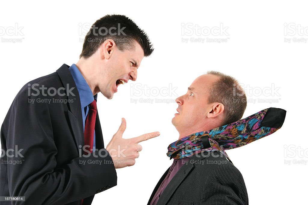 Yelling at an employee stock photo