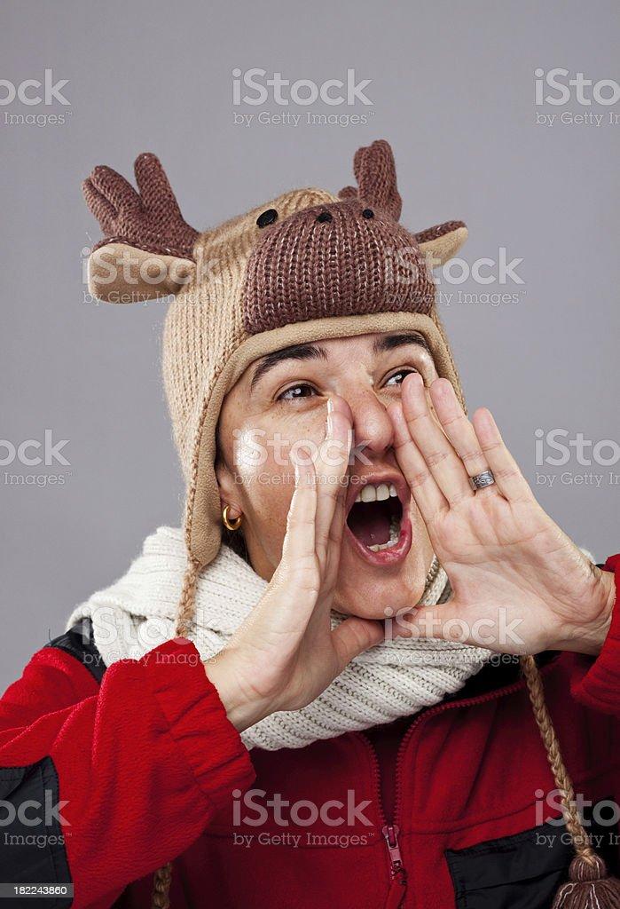 yelling woman stock photo