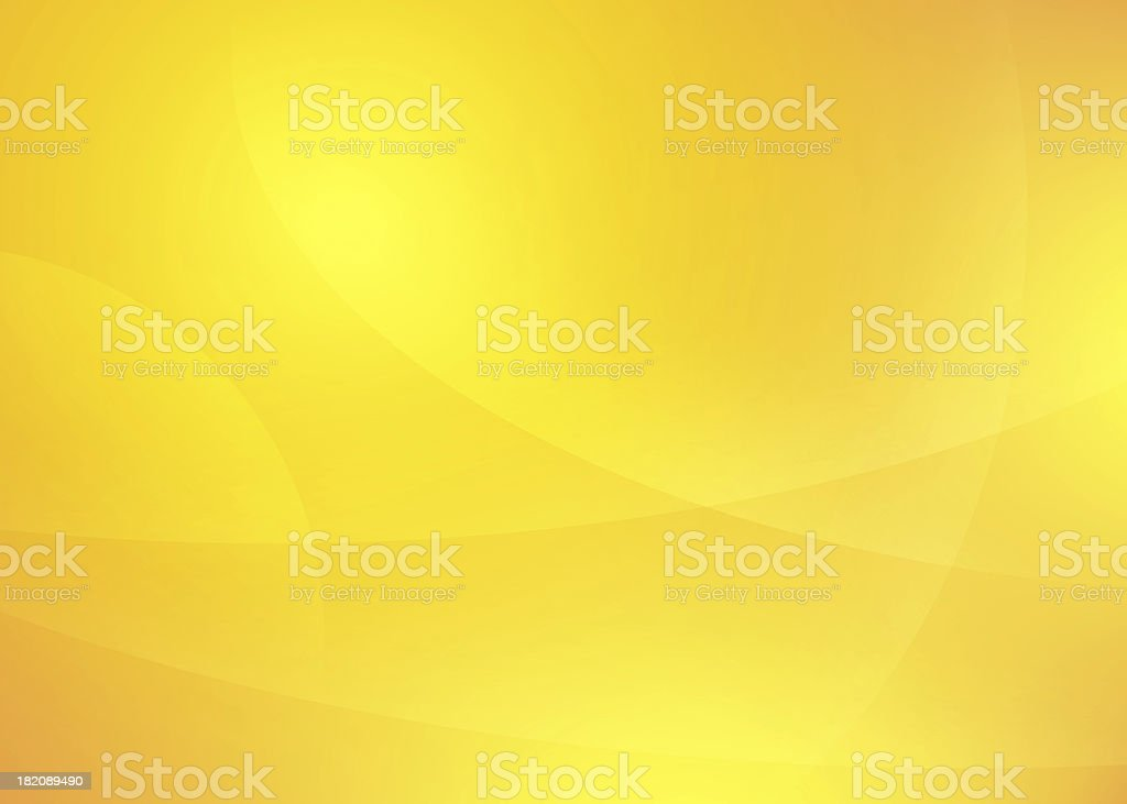 Yellow abstract background with curved lines stock photo