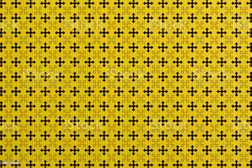 Yellow abstract paper lines style macro texture cross ornamental styled foto stock royalty-free