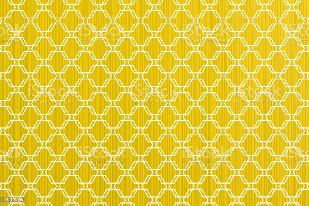 Yellow abstract paper lines style macro texture white ornamental styled foto stock royalty-free