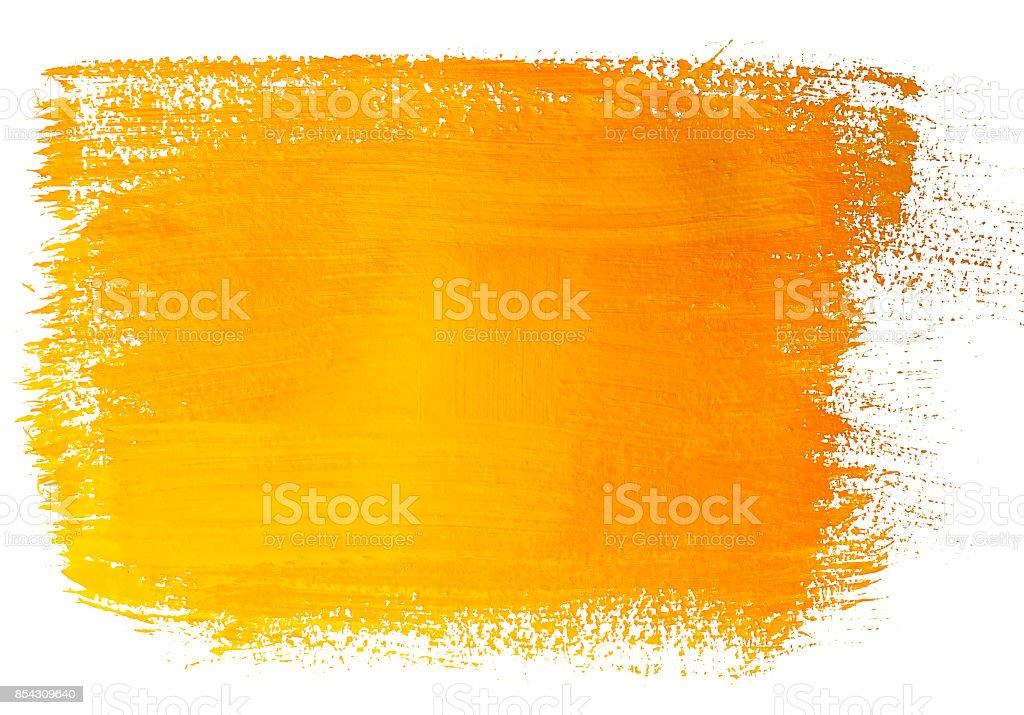 Yellow acrylic banner - fotografia de stock