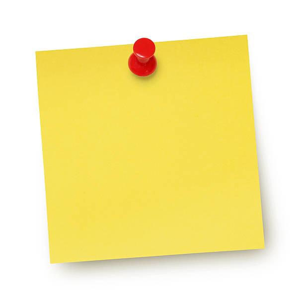 jaune note adhésive (voie - épingler photos et images de collection