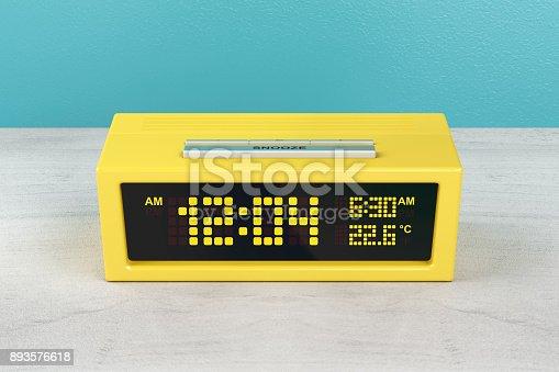 istock Yellow alarm clock 893576618