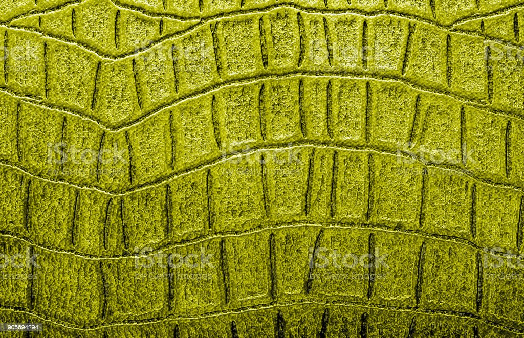Yellow alligator patterned background stock photo