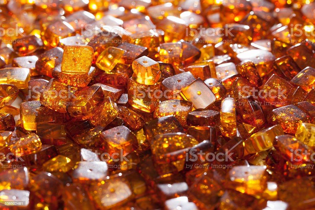 yellow amber stones stock photo