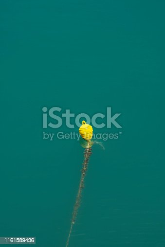 Yellow anchor buoys