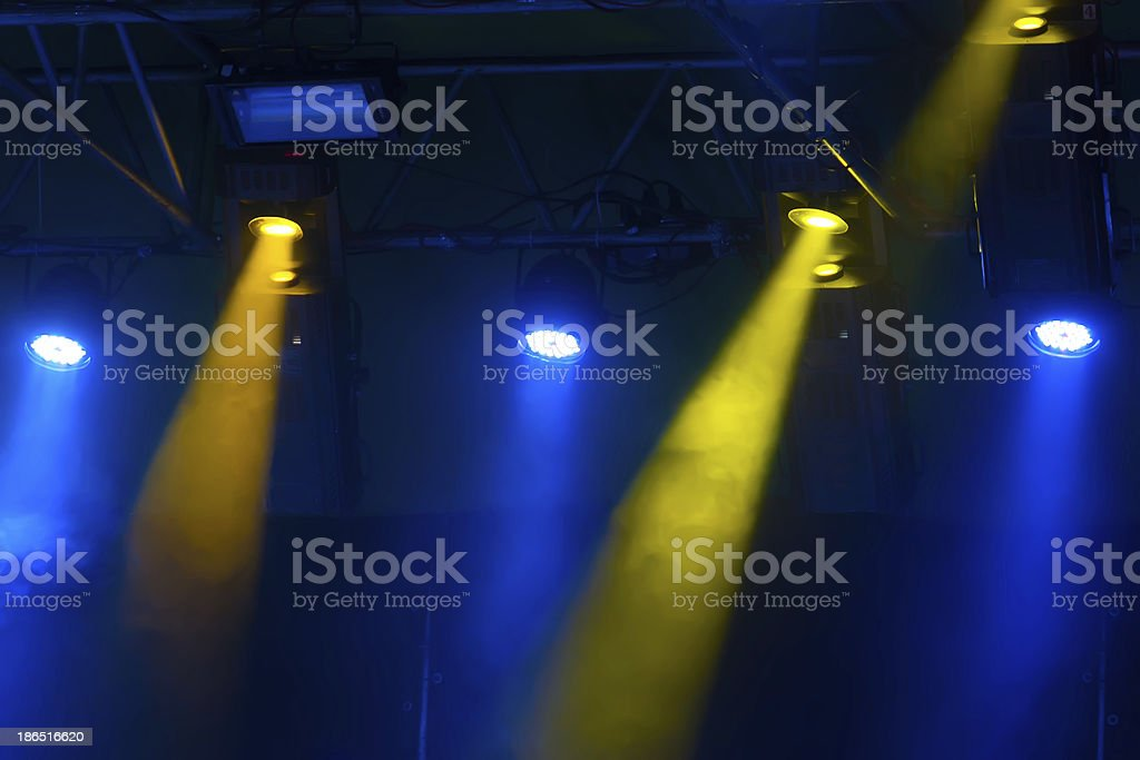 yellow and blue illuminate royalty-free stock photo