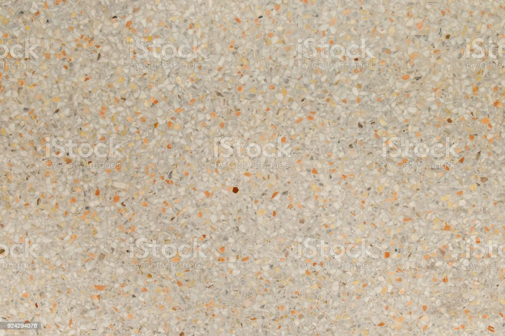 Yellow And Cream Terrazzo Floor Old Texture Or Polished