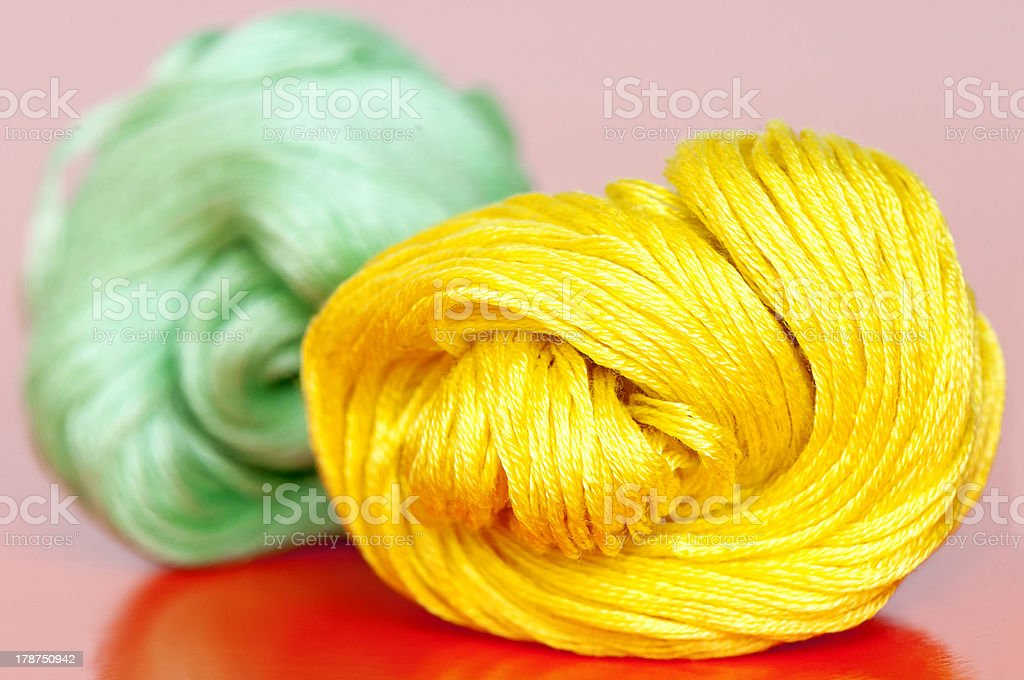 Yellow and green clews royalty-free stock photo