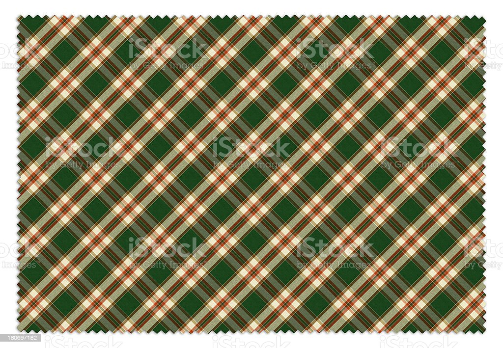 Yellow and Green Gingham Tablecloth Swatch royalty-free stock photo