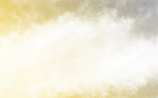 Yellow and grey watercolor texture background illustration