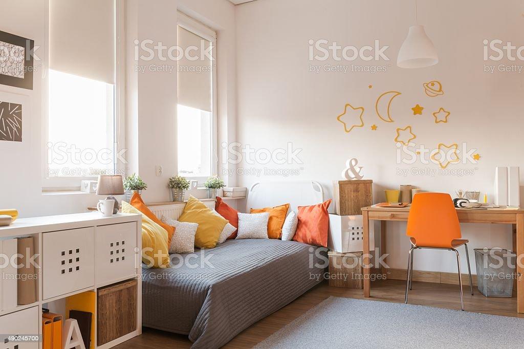 Yellow and orange accessories stock photo