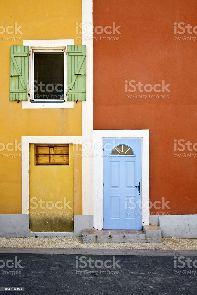 Yellow and Orange Neighbors royalty-free stock photo