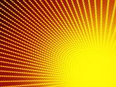 istock Yellow and orange pop art retro comic background with halftone dots design 1222452072