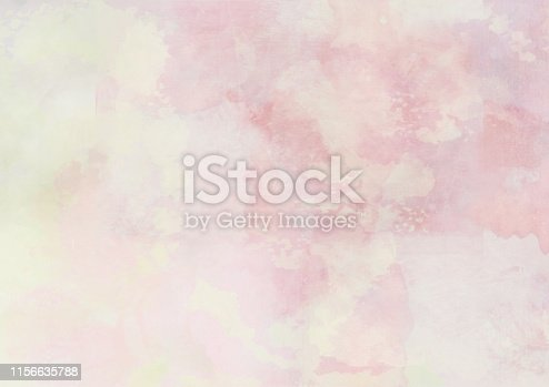 istock Yellow and pink abstract watercolor clouds background 1156635788