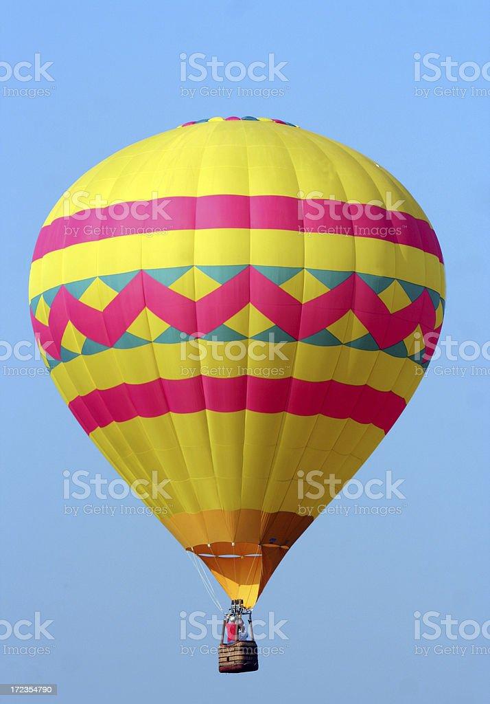 Yellow and Pink Hot Air Balloon royalty-free stock photo