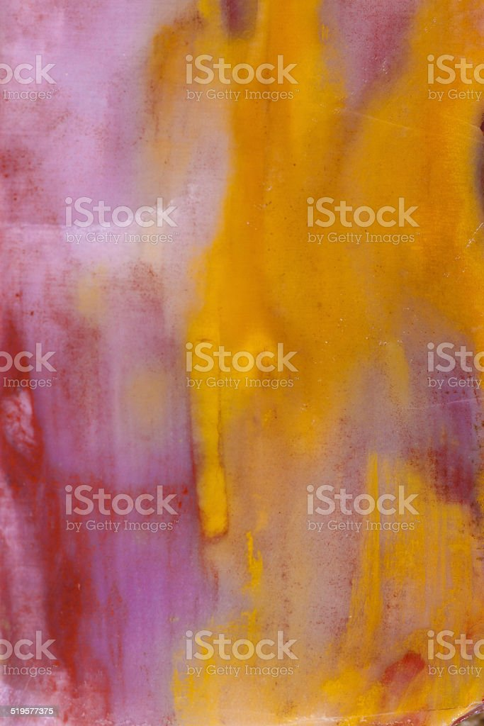 Yellow and Purple Colored Stone stock photo