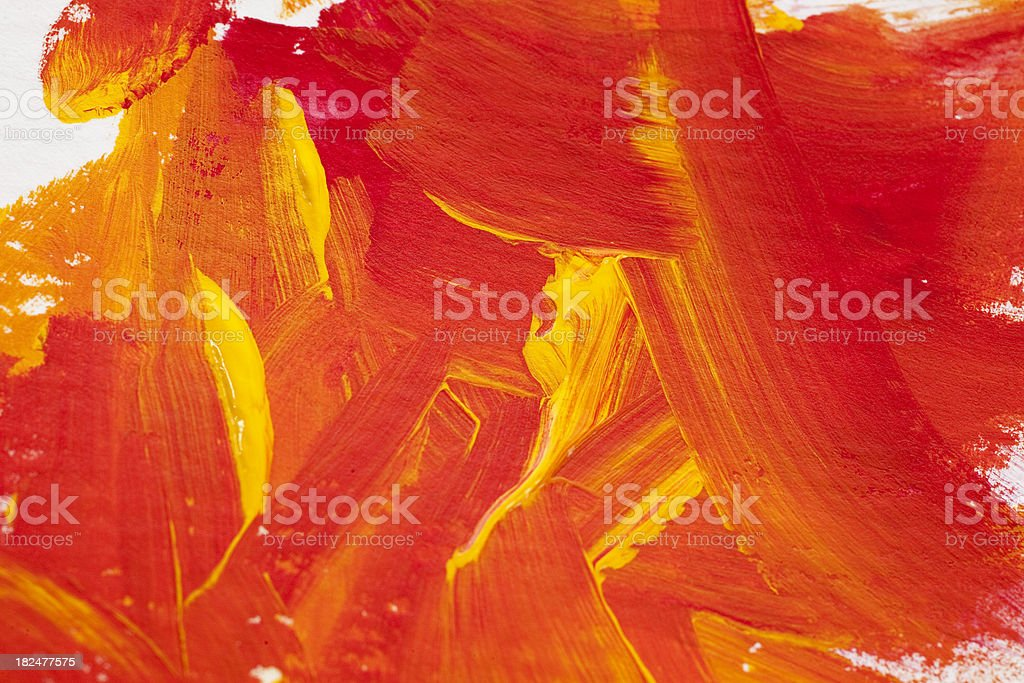Yellow And Red Abstract royalty-free stock photo