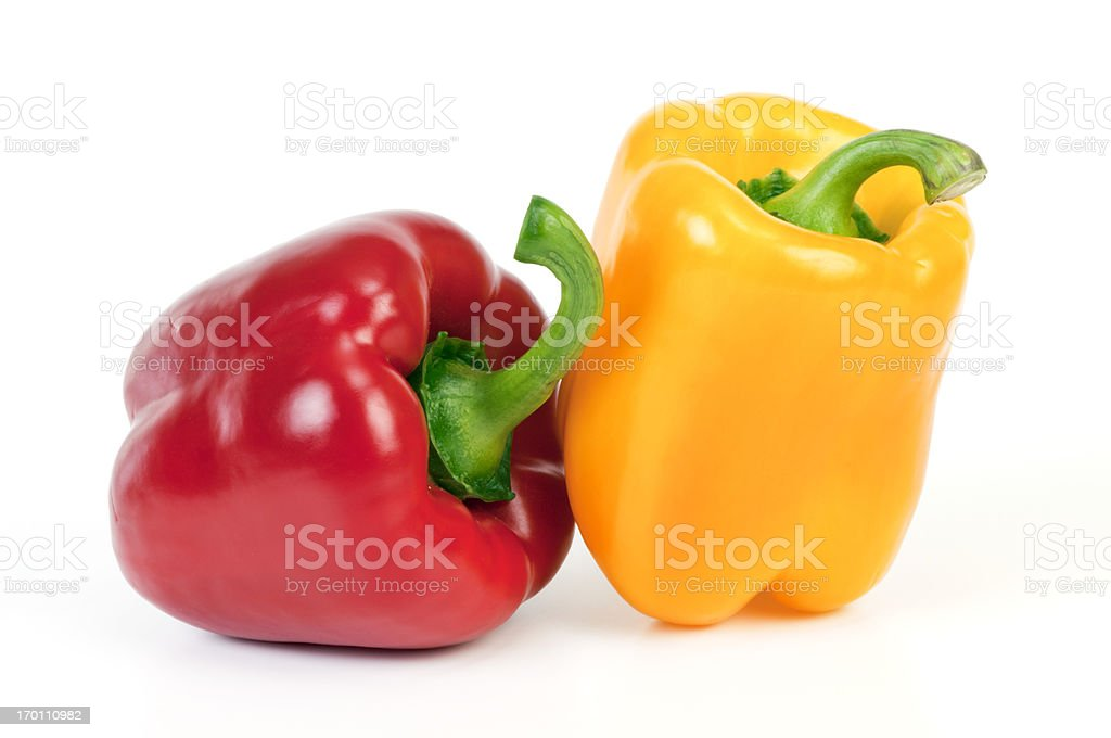 Yellow and red Bell Pepper royalty-free stock photo