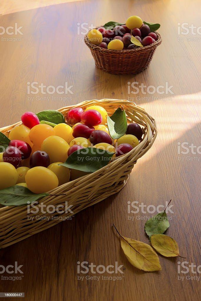 노란색 및 빨간색 허니 플럼 royalty-free 스톡 사진