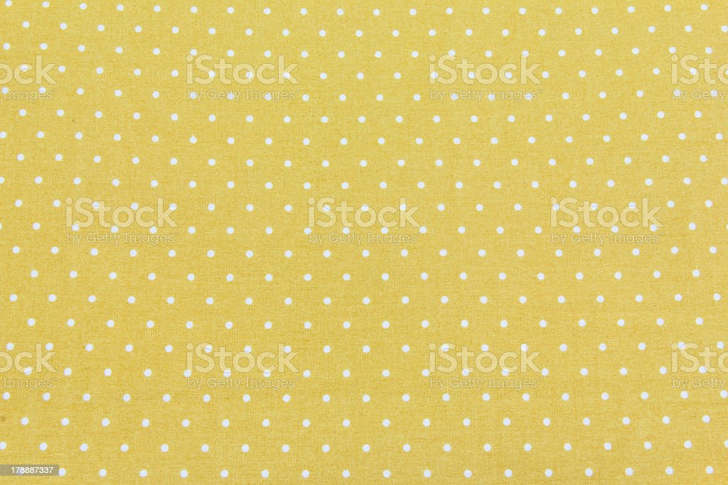 Yellow and White Tiny Distressed Polka Dots royalty-free stock photo