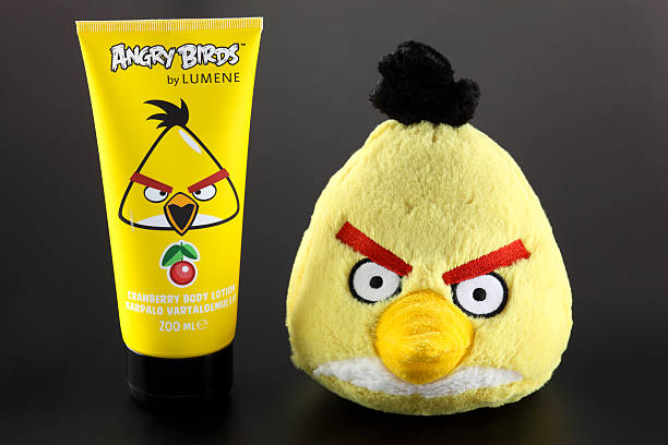 Yellow Angry Birds stock photo