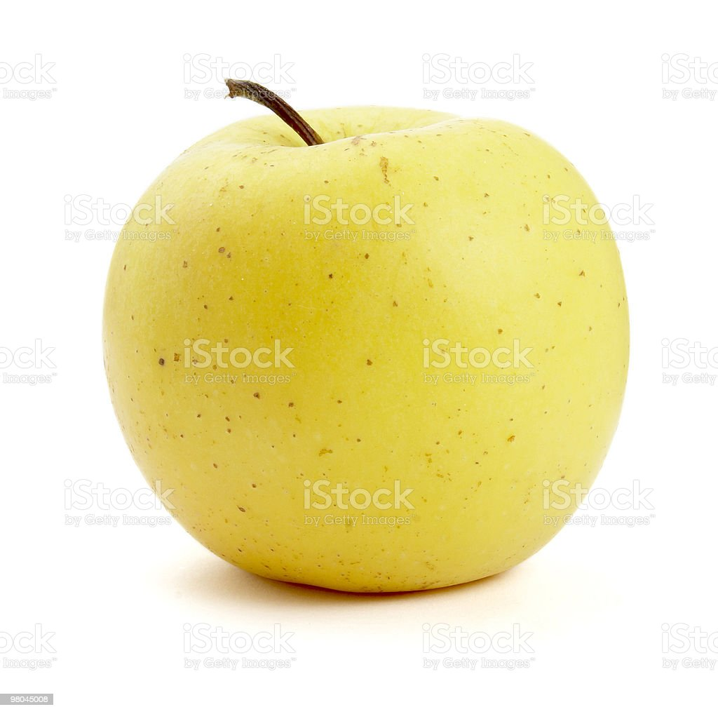 yellow apple fruit food royalty-free stock photo