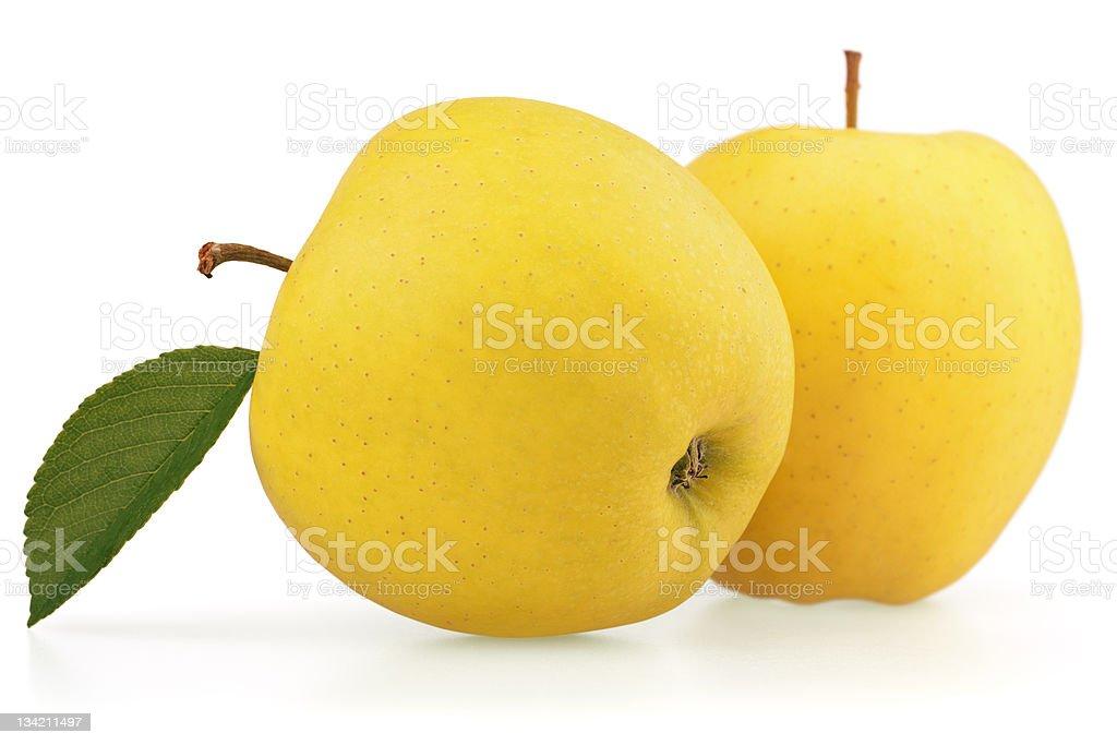 Yellow apple fruits royalty-free stock photo