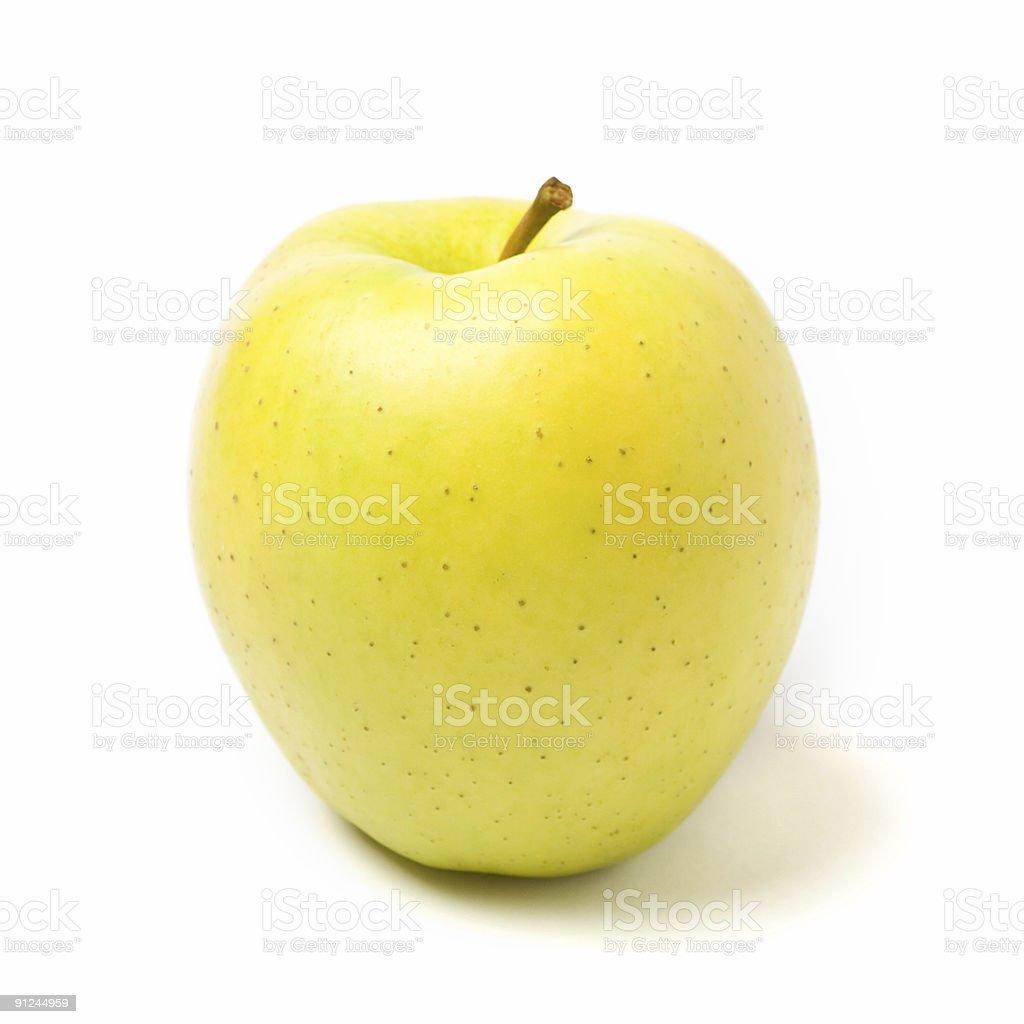 Gelbe Apfel Auf Weißem Hintergrund Mit Schatten - Stockfoto | iStock
