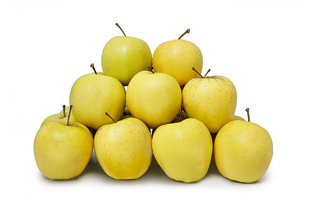 pomme jaune - golden photos et images de collection