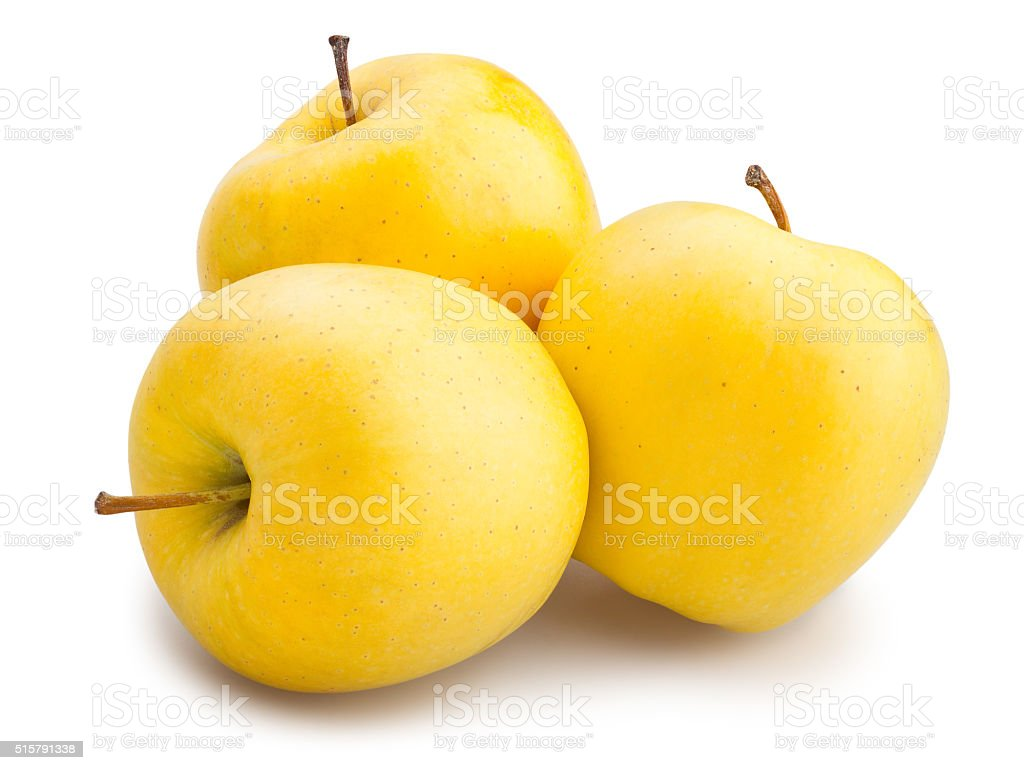 yellow apples stock photo