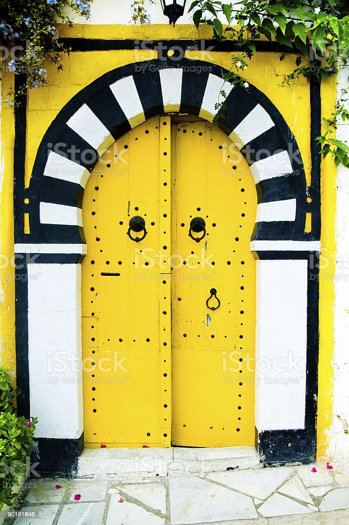 Gelbe Arabische Tür – Foto